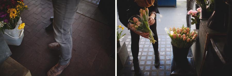 pike market flower couple flower shopping