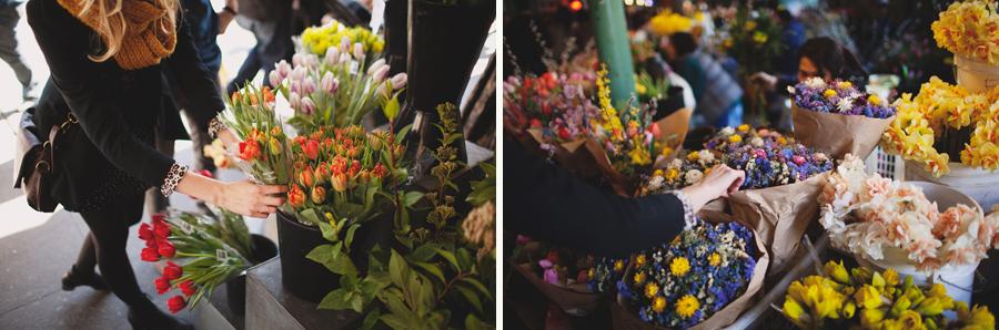seattle pike market flower shopping